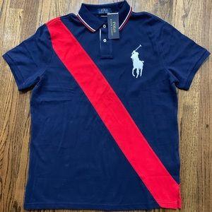 Polo Ralph Lauren Custom Slim Mesh Polo, Big Pony